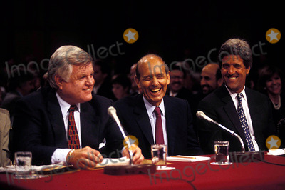Stephen Breyer Photo - Sen Jud Comm Hearings For Stephen Breyer Senators John Kerry and Ted Kennedy Photojames Colburn  Ipol  Globe Photos Inc Johnkerryretro