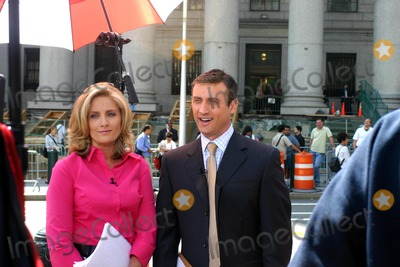 ALEX WITT Photo - Martha Stewart Sentencing on Obstruction of Justice Charges at Federal Court New York City 07162004 Photo by William Regan  Globe Photos Inc 2004 Alex Witt and Dan Abrams