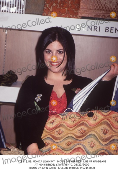 662535622eb8 Photos and Pictures -   Monica Lewinsky Shows Off Her New Line of Handbags  at Henri Bendel Store in NYC. 03 22 2000 Photo by John Barrett Globe  Photos