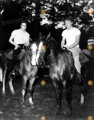 Red West Photo - Elvis Presley with Red West Globe Photos Inc