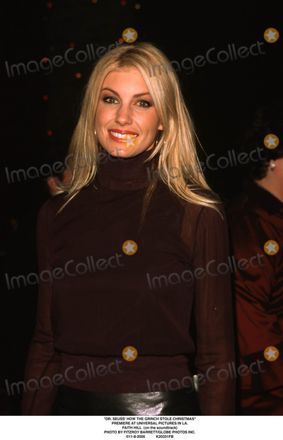 The Grinch Photo - Dr Seuss How the Grinch Stole Christmas Premiere at Universal Pictures in LA Faith Hill (on the Soundtrack) Photo by Fitzroy BarrettGlobe Photos Inc 11-8-2000