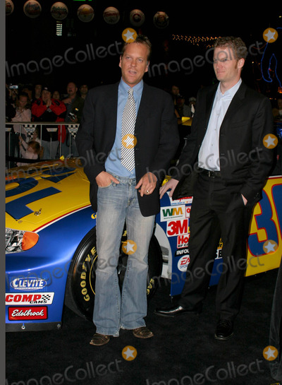 Dale Earnhardt Jr Photo - Kiefer Sutherland Dale Earnhardt Jr - Nascar 3d the Imax Experience - World Premiere Universal City Hollywood CA - 03032004 - Photo by Nina PrommerGlobe Photos Inc2004