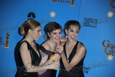 Lena Dunham Photo - Actress Zosia Mamet (l-r) Actresswriter Lena Dunham and Actress Allison Williams Pose in the Photo Press Room of the 70th Annual Golden Globe Awards Presented by the Hollywood Foreign Press Association Hfpa at Hotel Beverly Hilton in Beverly Hills USA on 13 January 2013 Photo Alec Michael Photos by Alec Michael-Globe Photos Inc