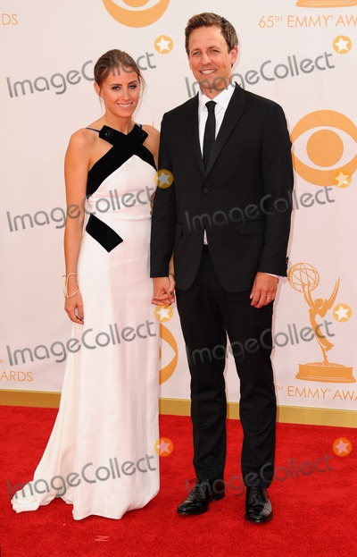 ASH Photo - Seth Meyers Alexi Ashe attending the 65th Primtime Emmy Awards-arrivals Held at the Nokia Theatre in Los Angeles California on September 22 2013 Photo by D Long- Globe Photos Inc