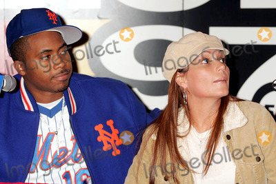 Angie Martinez Photo - Hot 97s Vip Lounge Featuring Nas Sony Sound Stagenew York City 11-23-2004 Photo Rick MacklerrangefindersGlobe Photos Inc 2004 Nas and Hot 97 Dj Angie Martinez