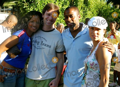 Nicole Lyn Photo - Robi Reeds 3rd Annual End of Summer Barbeque Bash Private Location Los Angeles CA 08-20-2005 Photo Clinton Hwallace-photomundo-Globe Photos Inc Garcelle Beauvais with Husband Mike Nilon with Dule Hill and Wife Nicole Lyn