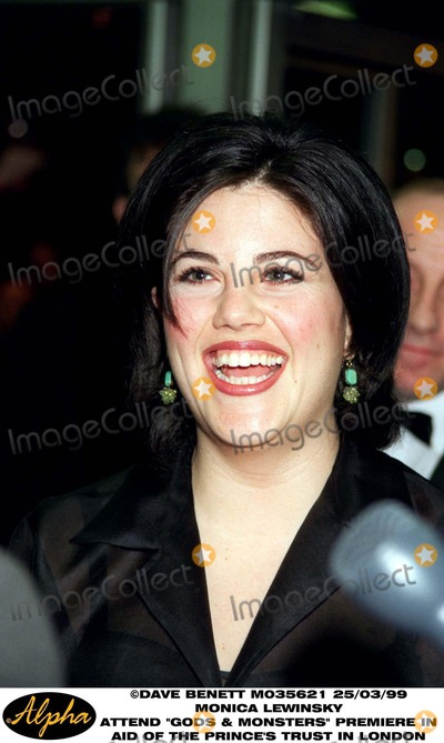 Monica Lewinsky Photo - 0399 London Uk Premiere of Gods and Monsters Benefiting the Princes Trust at the Odean West End Monica Lewinsky