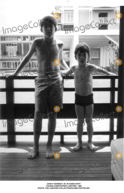 JFK Jr Photo - John F Kennedy Jr in Hawaii with Cousin Christopher Lawford 1966 Photothe Lawford CollectionGlobe Photos Inc