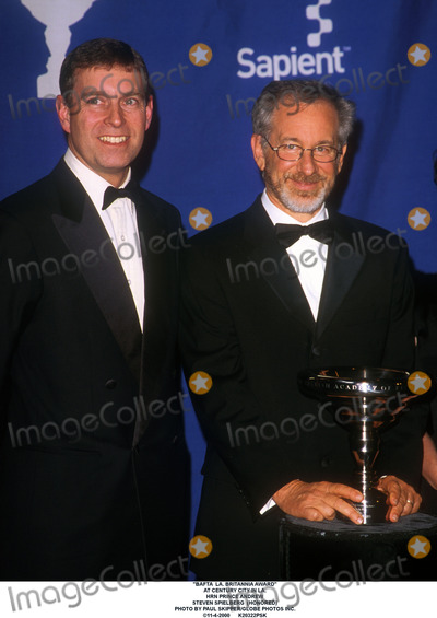Andrew Stevens Photo - Bafta LA Britannia Award at Century City in LA Hrn Prince Andrew Steven Spielberg (Honored) Photo by Paul SkipperGlobe Photos Inc 11-4-2000