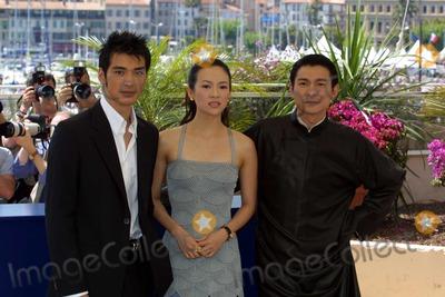 Takeshi Kaneshiro Photo - Cannes Film Festival - House of Flying Daggers - Photocall Takeshi Kaneshiro Zhang Ziyi and Andy Lau 5192004 Photo Bycosima ScavolinilapresseGlobe Photos Inc 2004