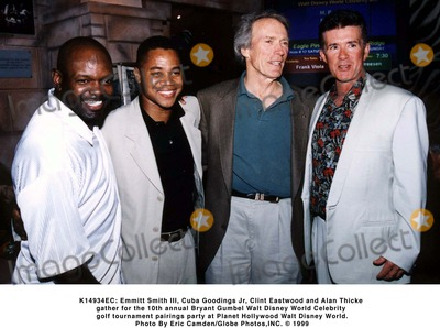 Alan Thicke Photo -  Emmitt Smith Iii Cuba Goodings Jr Clint Eastwood and Alan Thicke Gather For the 10th Annual Bryant Gumbel Walt Disney World Celebrity Golf Tournament Pairings Party at Planet Hollywood Walt Disney World Photo by Eric CamdenGlobe Photosinc