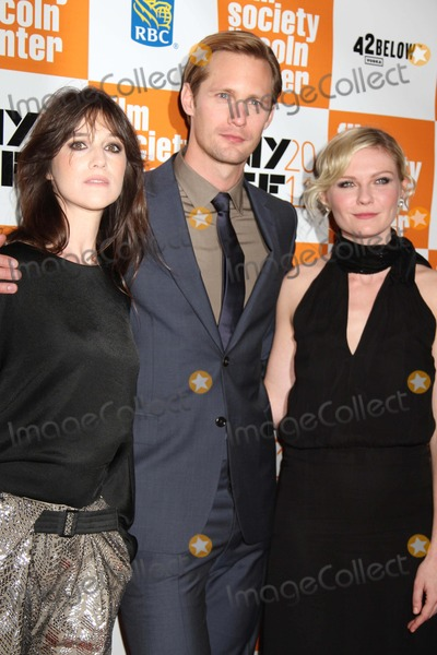 Alexander Skarsgaard Photo - The 49th Annual New York Film Festival Presents the Nyff Presentation of Melancholia Alice Tully Hall NYC October 3 2011 Photos by Sonia Moskowitz Globe Photos Inc 2011 Charlotte Gainsbourg Alexander Skarsgaard Kirsten Dunst