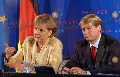 Angela Merkel Photo - Lisbon Portugal 10-19-2007 - Working Session - Lisbon Informal Summit  Session of the Intergovernmental Conference in Picture Angela Merkel (Germany Federal Chancellor) Photo by Alvaro Isidoro-cityfiles-Globe Photos Inc 2007