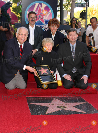 Audrey Geisel Photo - JOHNNY GRANT LERON GUBLER MARION ROSS AND AUDREY GEISEL THE WIFE OF AUTHOR DR SEUSS (THEODOR GEISEL) POSED AS HE WAS HONORED WITH THE 2249TH STAR -DR SEUSS HONORED WITH STAR ON THE HOLLYWOOD WALK OF FAME -HOLLYWOOD BOULEVARD HOLLYWOOD CA -03112004 -PHOTO BY NINA PROMMERGLOBE PHOTOS INC2004K36070NP