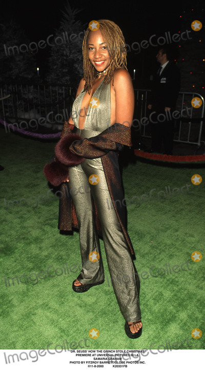The Grinch Photo - Dr Seuss How the Grinch Stole Christmas Premiere at Universal Pictures in LA Samaria Graham Photo by Fitzroy BarrettGlobe Photos Inc 11-8-2000
