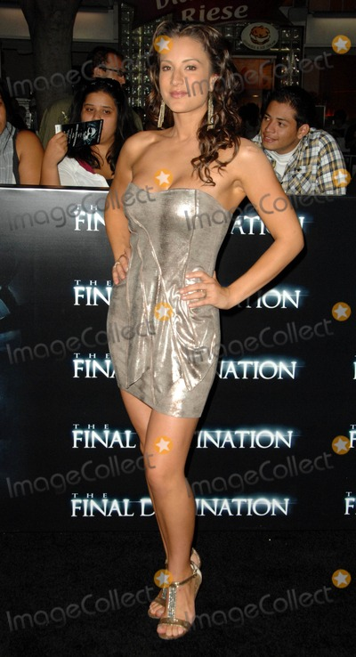 America Olivo Photo - America Olivo attends the World Premiere of  the Final Destination Held at the Mann Village Theatre in Westwood California on August 27 2009 Photo by David Longendyke-Globe Photos Inc 2009