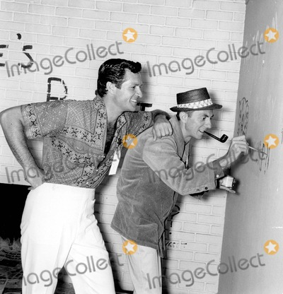 Aaron Spelling Photo - Aaron Spelling with Hugh Obrian 05-03-1960 Photo by Larry Barbier Jr-Globe Photos Inc