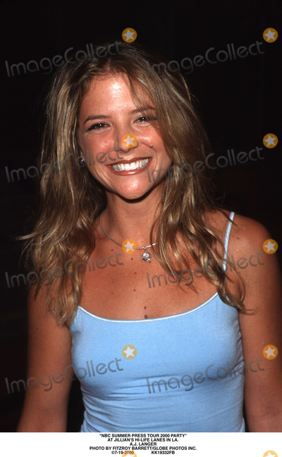 AJ Langer Photo - NBC Summer Press Tour 2000 Party at Jillians Hi-life Lanes in LA Aj Langer Photo by Fitzroy BarrettGlobe Photos Inc 7-19-2000