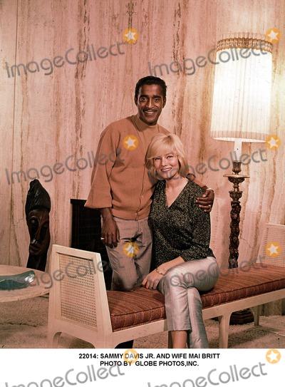 Mai Britt Photo -  Sammy Davis Jr and Wife Mai Britt Photo by Globe Photosinc