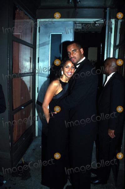 Jason Williams Photo -  103099 Outside Moomba Restaurant NYC Jason Williams with His Wife Photo by Rick MacklerrangefinderGlobe Photos Inc