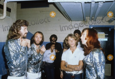Andy Gibb Photo - Robin Gibb with Andy Gibb the Bee Gees Photo by Bob Sherman-Globe Photos Inc