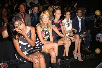 Camille Rowe Photo - Desigual Spring 2015 Runway Show Celebrities Backstage Lincoln Center Theatre NYC September 4 2014 Photos by Sonia Moskowitz Globe Photos Inc 2014 Rosario Dawson Camille Rowe Poppy Delevigne Olivia Palermo