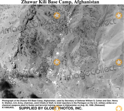 Train Photo - 980820-O-0000X-003Photograph of the Zhawar Kili Base Camp Afghanistan used by Secretary of Defense William S Cohen and Gen Henry H Shelton US Army chairman Joint Chiefs of Staff to brief reporters in the Pentagon on the US military strike on a chemical weapons plant in Sudan and terrorist training camps in Afghanistan on Aug 20 1998  (Released)