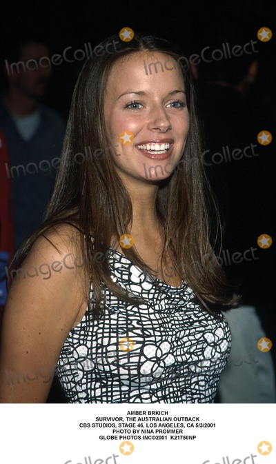 Amber Brkich Photo - Amber Brkich Survivor the Australian Outback Cbs Studios Stage 46 Los Angeles CA 532001 Photo by Nina Prommer Globe Photos Inc2001