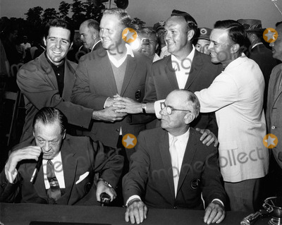 Arnold Palmer Photo - Arnold Palmer with Bobby Jones  Clifford Roberts  Gary Player  Jack Nicklaus and a Downing graymasters Final 1965photo by Morgan fitz-globe Photos Inc