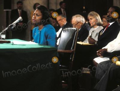 Anita Hill Photo - Anita Hill Testifying Before the Senate Judiciary Commitie Photo by James ColburnipolGlobe Photosinc