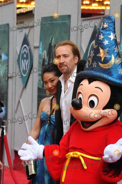 Alfred Molina Photo - Sorcerers Apprentice New Amsterdam Theater ny 07-06-2010 Photo by Ken Babolcsay - Ipol-Globe Photo 2010 Nicolas Cage and Wife Alice Kim with Mickey Mouse