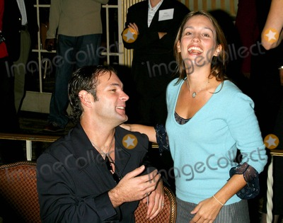 Amy Jo Johnson Photo - - Celebrity Talking Dictionary to Empower Women with Breast Cancer - Regent Beverly Wilshire Hotel Beverly Hills CA - 09302003 - Photo by Milan Ryba  Globe Photos Inc 2003 Amy Jo Johnson and Her Boyfriend Chris Jaymes