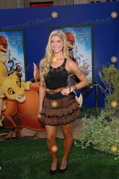 Allie Deberry Photo - Ally Deberry During the Premiere Walt Disney Studios Re-release of the the Lion King 3d Held at the El Capitan Theatre on August 27 2011 in Los Angeles Photo Michael Germana - Globe Photos Inc