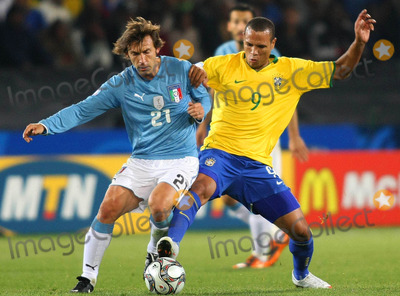 Andrea Pirlo Photo - the 2009 Fifa Confederations Cup in Pretoria  South Africa Brazil Vs Italy 06-21-2009 Photo by Cityfiles-Globe Photos Inc in Picture Luis Fabiano (Bra) and Andrea Pirlo (Ita)