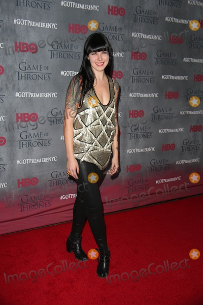 Alexis Krauss Photo - The New York Premiere of Hbos Game of Thrones Avery Fisher Hall Lincoln Center NYC March 18 2014 Photos by Sonia Moskowitz Globe Photos Inc 2014 Alexis Krauss