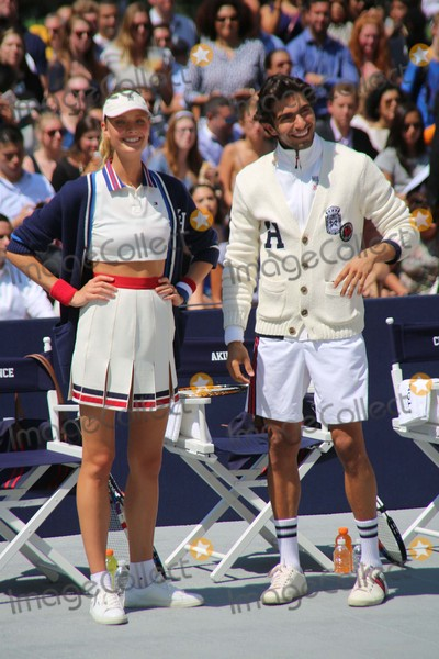 Akin Akman Photo - Constance Jablonski and Akin Akman Attend the Tommy Hilfiger and Rafael Nadal Global Brand Launch Event Bryant Park NYC August 25 2015 Photos by Sonia Moskowitz Globe Photos Inc