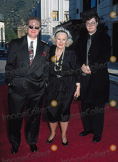 Virginia Mayo Photo - Virginia Mayo with Her Grandsons Lucas and Evan 6-13-1996 Photo by Phil Roach-ipol-Globe Photos Inc