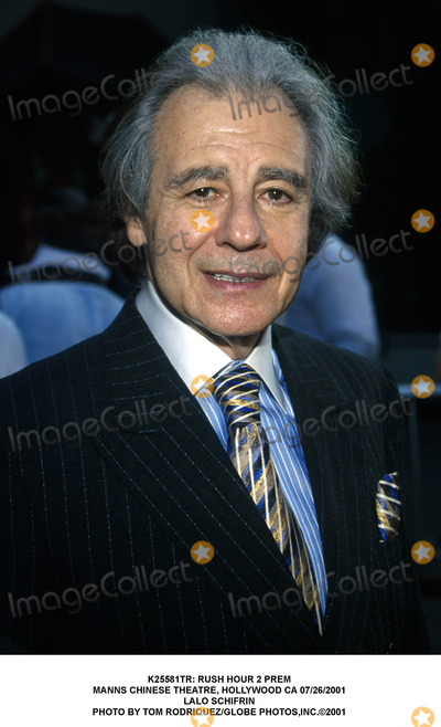 Lalo Schifrin Photo -  Rush Hour 2 Prem Manns Chinese Theatre Hollywood CA 07262001 Lalo Schifrin Photo by Tom RodriquezGlobe Photosinc