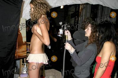 Ashley Paige Photo - Backstage at the Ashley Paige Springsummer Collection Show -Mercedes Benz Spring 2005 Fashion Week Smashbox Studios Culver City CA 10272004 Photo by Clinton H WallaceipolGlobe Photos Inc 2004 California Tan