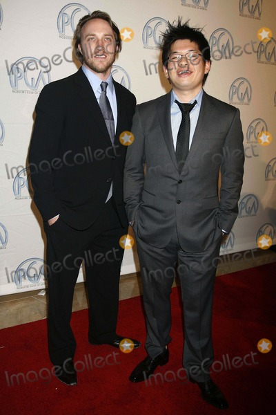 Steve Chen Photo - 19th Annual Producers Guild Awards - Arrivals Beverly Hilton Hotel Beverly Hills CA 020208 Steve Chen and Chad Hurley - Youtube Founders Photo Clinton H Wallace-photomundo-Globe Photos Inc