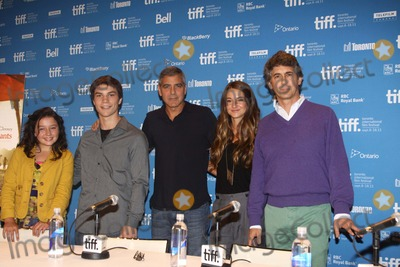 Amara Miller Photo - Actors Amara Miller (l-r) Nick Krause George Clooney Shailene Woodley and director Alexander Payne attend the press conference of The Descendats at the Toronto International Film Festival TIFF at Bell Lightbox in Toronto Canada on 10 September 2011 Photo Alec Michael