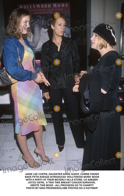 Annie Guest Photo - JAMIE LEE CURTIS DAUGHTER ANNIE GUEST CARRIE FISHERSAKS FIFTH AVENUE INTRODUCES HOLLYWOOD MUMS BOOKWITH A PARTY AT THEIR BEVERLY HILLS STORE CA 4262001JOYCE OSTIN  A TWO TIME BREAST CANCER SURVIVOR WROTE THIS BOOK - ALL PROCEEDS GO TO CHARITYPHOTO BY NINA PROMMERGLOBE PHOTOS INC K21700NP