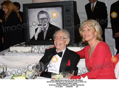 Milton Berle Photo - Hollywood Gala Salute to Milton Berle on His 93rd Birthday at the Beverly Hills Hotel CA Milton Berle  Wife Lorna Photo by Fitzroy Barrett  Globe Photos Inc 7-22-2001 K22503fb (D)
