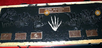 Iron Maiden Photo - Legendary Heavy Metal Band Iron Maiden Inducted Into Quitar Centers Hollywood Rockwall Hollywood CA (081905)photo by Milan RybaGlobe Photos Inc2005 Iron Maiden Hands Prints