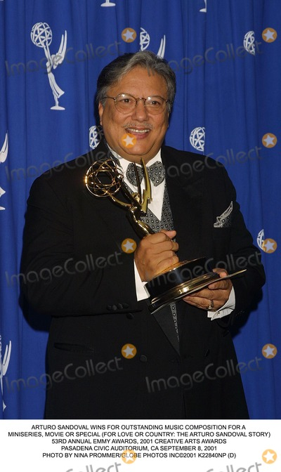 Arturo Sandoval Photo - ARTURO SANDOVAL WINS FOR OUTSTANDING MUSIC COMPOSITION FOR A MINISERIES MOVIE OR SPECIAL (FOR LOVE OR COUNTRY THE ARTURO SANDOVAL STORY)53RD ANNUAL EMMY AWARDS 2001 CREATIVE ARTS AWARDSPASADENA CIVIC AUDITORIUM CA SEPTEMBER 8 2001PHOTO BY NINA PROMMERGLOBE PHOTOS INC2001 K22840NP (D)