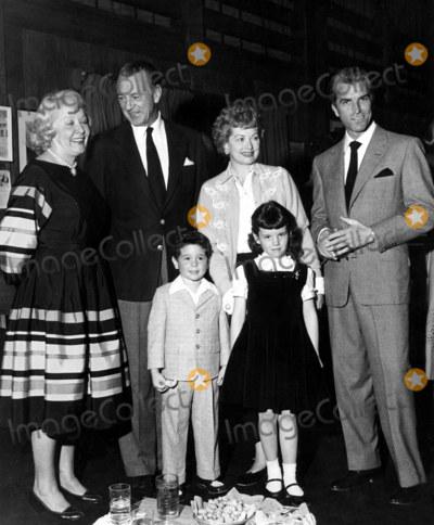Gary Cooper Photo - Vivian Vance Gary Cooper Lucille Ball Fernando Lamas Desi Jr and Lucie Supplied by SmpGlobe Photos Inc