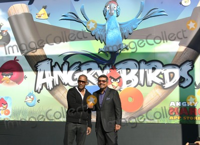 Angry Bird Photo - Jamie Foxx George Lopez Actors Rio Angry Birds Game Launch Century City Los Angeles 01-28-2011 photo by Graham Whitby Boot-allstar - Globe Photos Inc -Globe Photos  2010