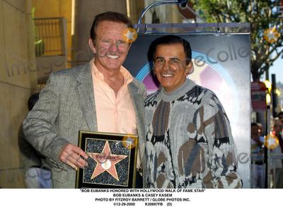 Casey Kasem Photo - Bob Eubanks Honored with Hollywood Walk of Fame Star Bob Eubanks  Casey Kasem Photo by Fitzroy Barrett  Globe Photos Inc 12-29-2000 K20697fb (D)