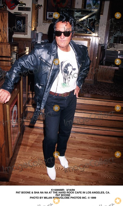Sha-Na-Na Photo -  31699 Pat Boone  Sha Na Na at the Hard Rock Cafe in Los Angeles CA Pat Boone Photo by Milan RybaGlobe Photos Inc