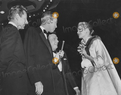 Arthur Godfrey Photo - Danny Kaye Jimmy Stewart Arthur Godfrey and Grace Kellyprincess Grace at the Premiere of Strategic Air Command Globe Photos Inc